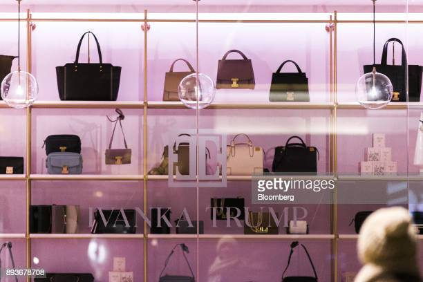 Handbags sit on display inside an Ivanka Trump brand store at Trump Tower in New York US on Thursday Dec 14 2017 Trump's new store marks her second...