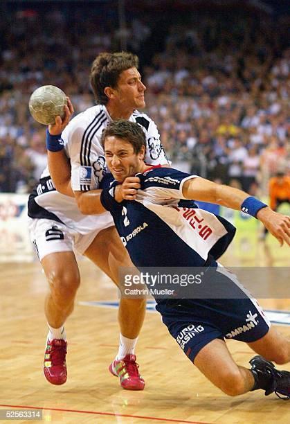 Handball 1 Bundesliga 04/05 Flensburg SG Flensburg Handewitt THW Kiel Marcus AHLM / THW Glen SOLBERG / Flensburg 180904