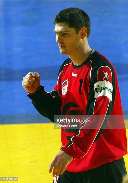 Handball / Maenner EM 2004 in Slowenien Koper Deutschland Frankreich 2929 Torwart Henning FRITZ / GER 250104