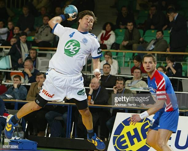 Handball / Maenner EM 2004 in Slowenien Ljubljana Tschechien Serbien Montenegro CZE SCG Branko KOKIR / SCG 290104