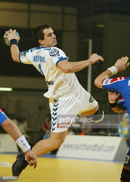 Handball / Maenner: EM 2004 in Slowenien, Ljubljana; Tschechien - Serbien Montenegro ; Milorad KRIVOKAPIC / SCG 29.01.04.