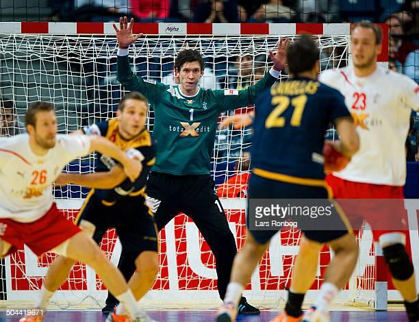 Handball Semifinal Spain vs. Denmark in Belgrade - Niklas Landin Jacobsen, Danmark / Denmark. ©Lars Rønbøg / Frontzonesport