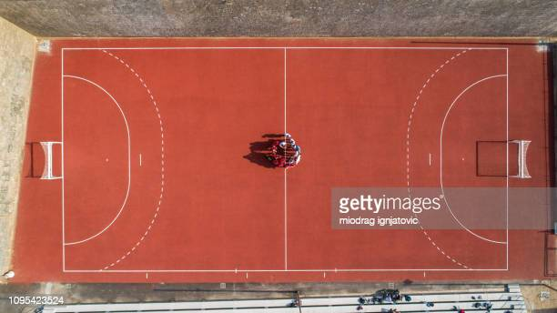 handball team before game - handball stock pictures, royalty-free photos & images