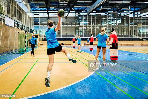 Handball training session
