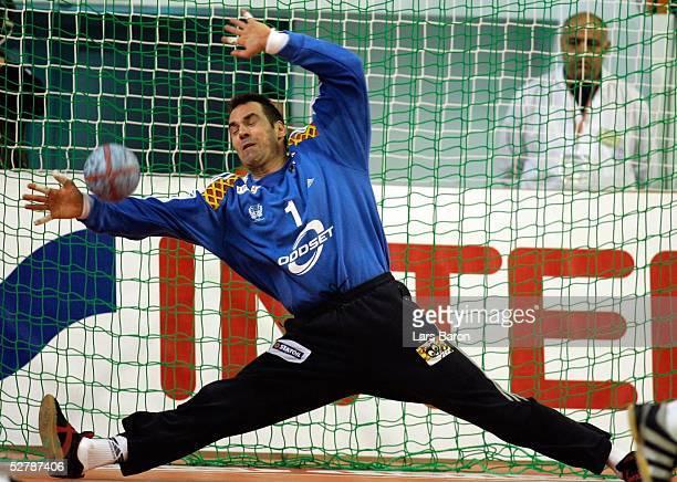 Handball/Maenner : WM 2005, Nabeul, 31.01.05;Serbien Montenegro - Schweden ;Torwart Tomas SVENSSON/SWE vom HSV Handball
