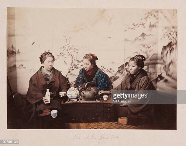 JAPAN FEBRUARY 02 Handcoloured albumen photograph by Felice Beato One of the first war photographers Venetianborn Beato worked with James Robertson...