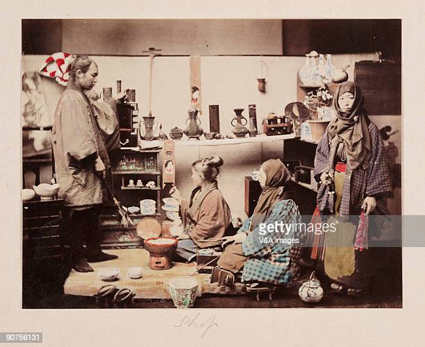 Hand-coloured albumen photograph by Felice Beato. One of the first war photographers, Venetian-born Beato worked with James Robertson in the Middle...