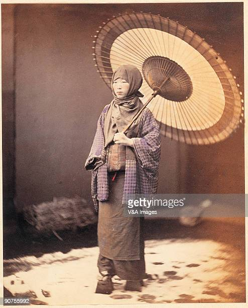 JAPAN DECEMBER 14 Handcoloured albumen print by Felice Beato One of the first war photographers Venetianborn Beato worked with James Robertson in the...
