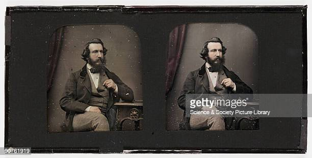 A handcoloured stereoscopic daguerreotype portrait of Henry Claudet taken at the studio of Antoine Claudet Henry Claudet was one of Antoine Claudet's...