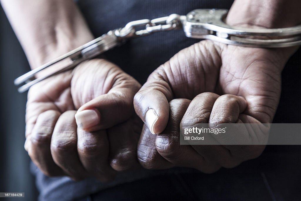 Handcuffed : Stock-Foto