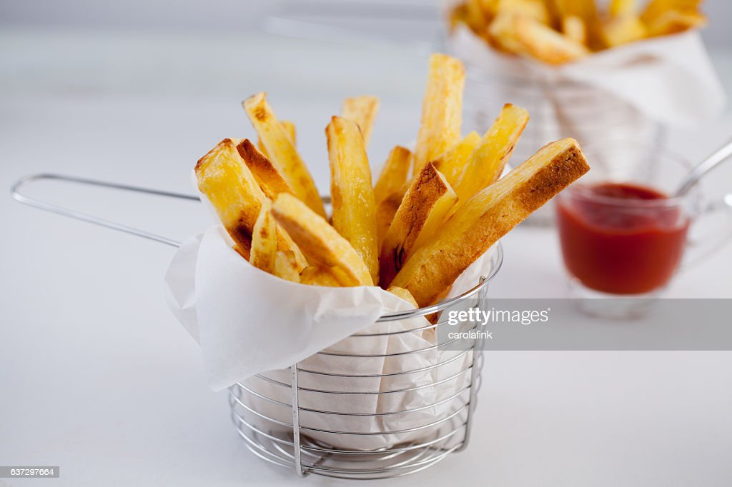 Hand-Cut French Fries : Stock-Foto
