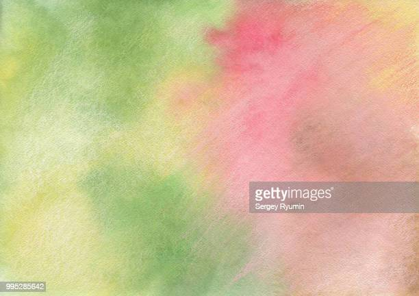 Hand-drawn abstract background on watercolor paper.