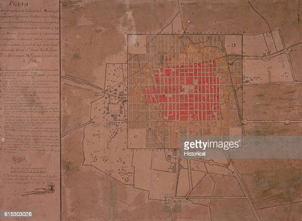 Mexico Map 1794.Mexico City Map Stock Photos And Pictures Getty Images