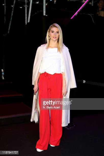 Hande Sezer Pekcan attends the Exquise show during MercedesBenz Fashion Week Istanbul March 2019 at Zorlu Center on March 22 2019 in Istanbul Turkey