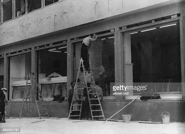 Handelsorganisation a former stateowned retail business of the German Democratic Republic Renovating the ruin of the so called Columbus House at...