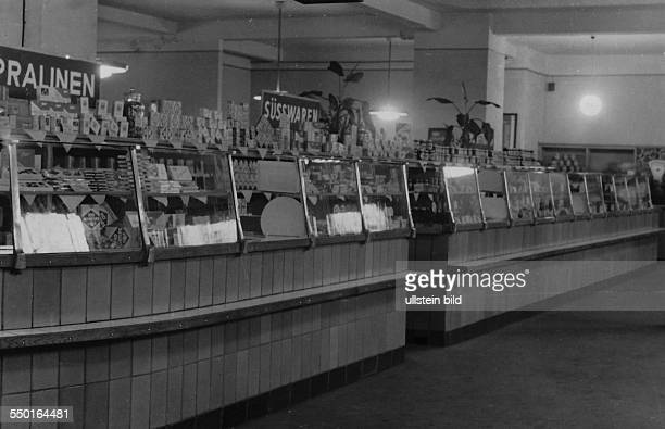 Handelsorganisation setting up national retail business in the Soviet Zone of occupation in Germany grocery shop in East Berlin