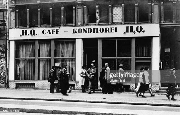 Handelsorganisation setting up national retail business in the Soviet Zone of occupation in Germany Cafe and Confrectionary at Friedrichstrasse in...