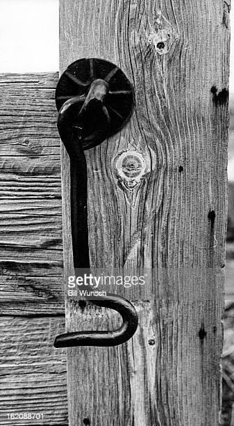 FEB 10 1972 FEB 14 1972 FEB 16 1972 HandForged Gate Latch At Laramie Stockyards Many a cowboy's hand has fastened this hook at yards being torn down