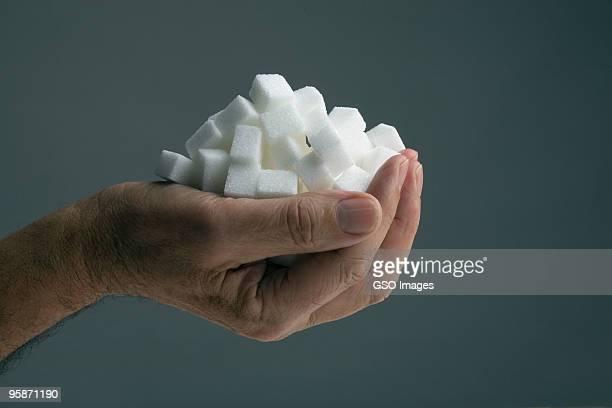 Handfull of sugar cubes