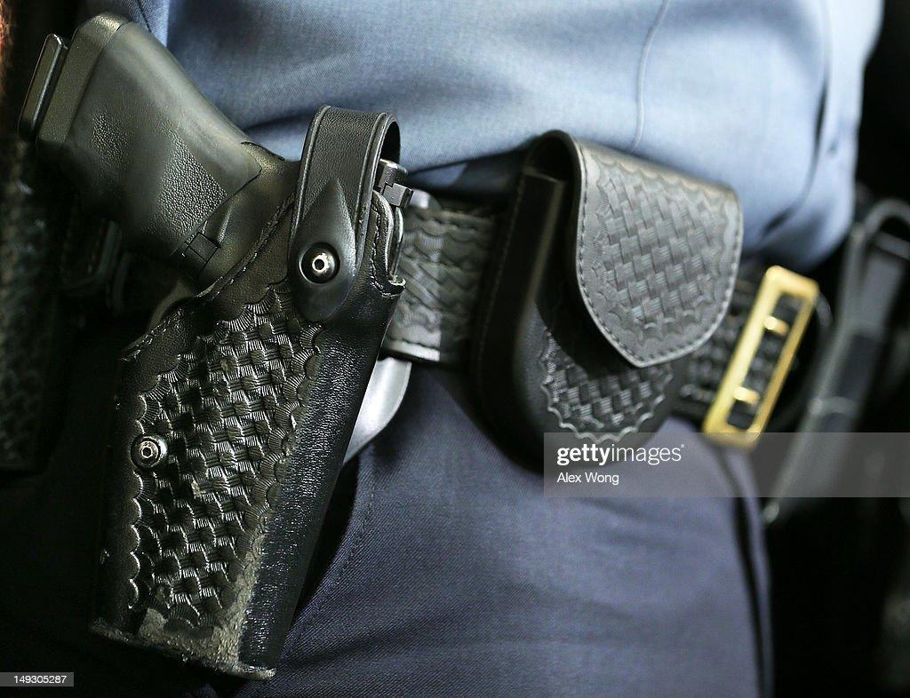 Nat'l Law Enforcement Partnership To Prevent Gun Violence Holds News Conf. : News Photo