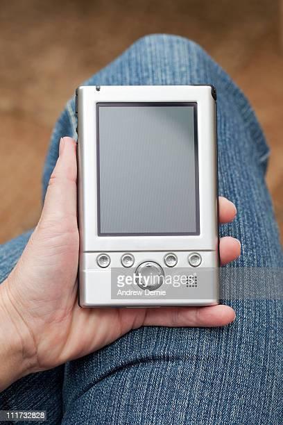 handheld computer - andrew dernie stockfoto's en -beelden