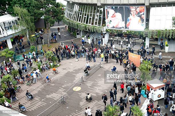 'Handi Wheelchair Tennis' game at 'Place des Mousquetaire' during Day Eleven of the 2016 French Tennis Open at Roland Garros on June 1 2016 in Paris...