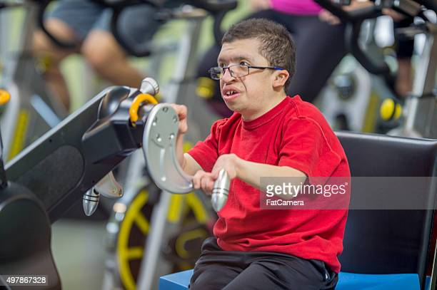 Handicap Man Working Out