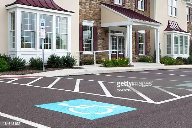 Handicap parking at a medical office