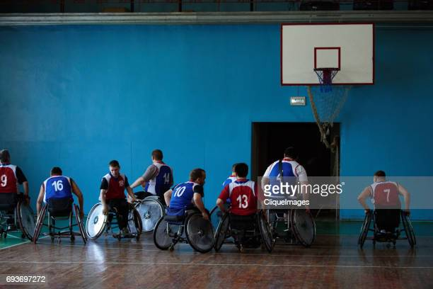 handicapped basketball players after match - cliqueimages - fotografias e filmes do acervo
