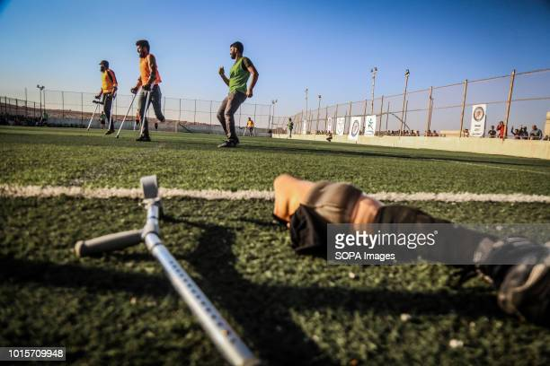A handicapped gear seen on the ground A group of Syrian youths who have been injured and disabled as a result of the war came together and created a...