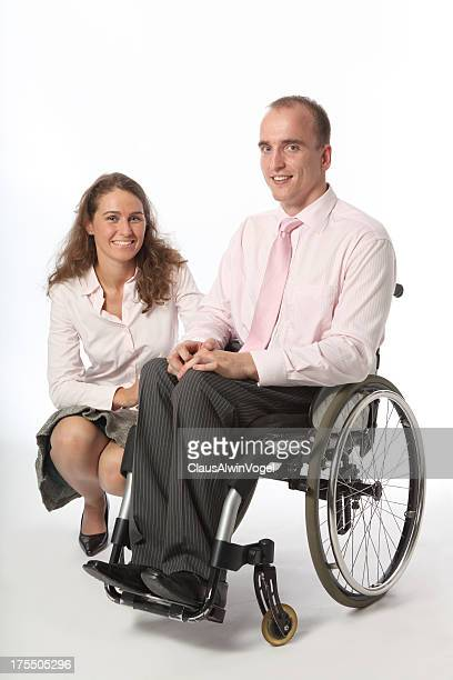 Handicapped man and woman