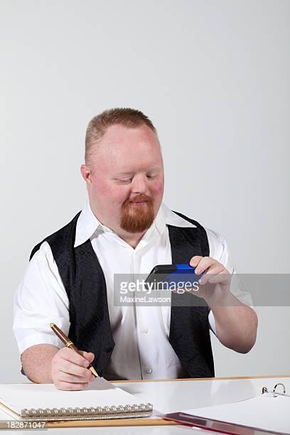 handicapped man texting
