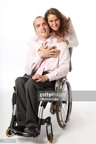 Handicapped man with girlfriend