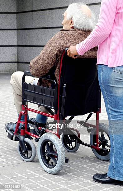 handicapped old man - blood clot stock pictures, royalty-free photos & images