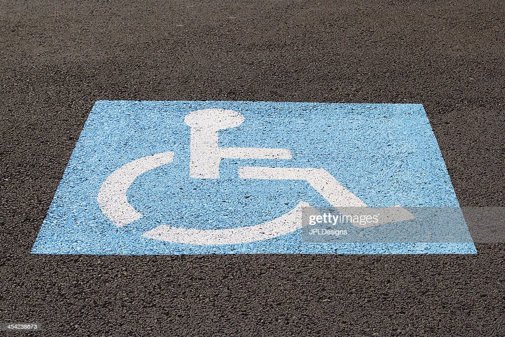 Handicapped Parking Space Closeup : Stock Photo