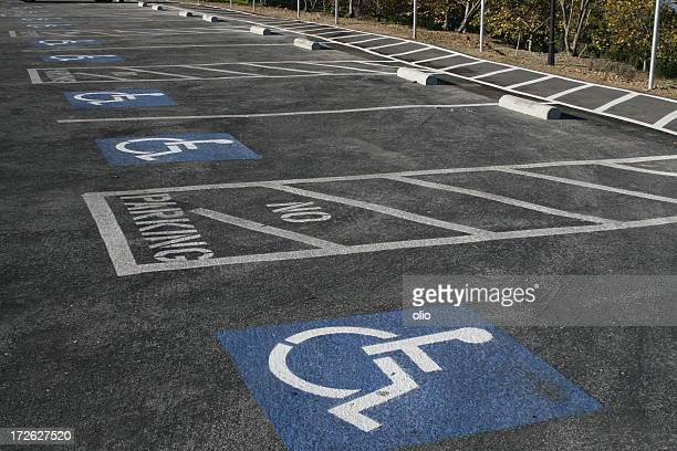 handicapped parking spaces - disabled sign stock photos and pictures