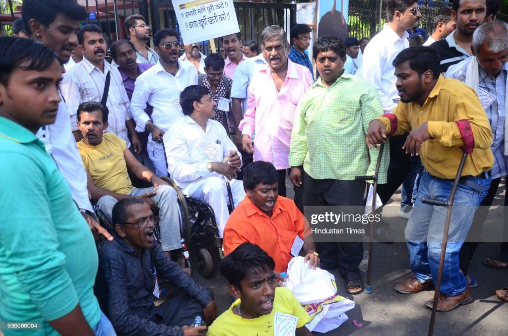 Handicapped People Protest Against CIDCO Regarding Various Pending Issues