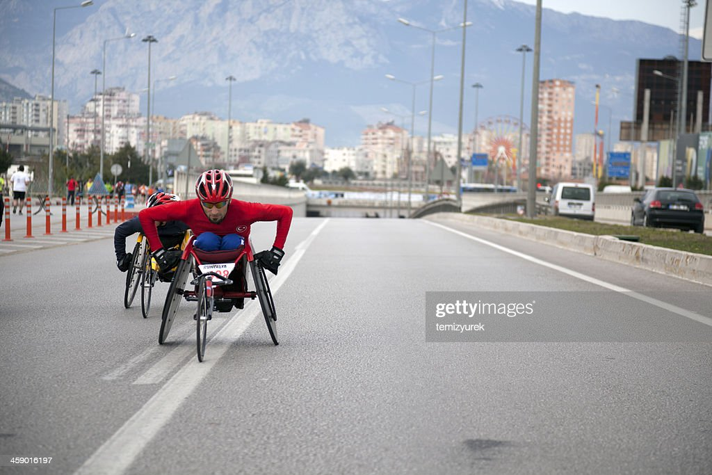 Handicapped racers : Stock Photo