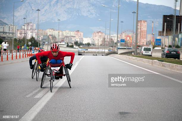 handicapped racers - paraplegic stock photos and pictures