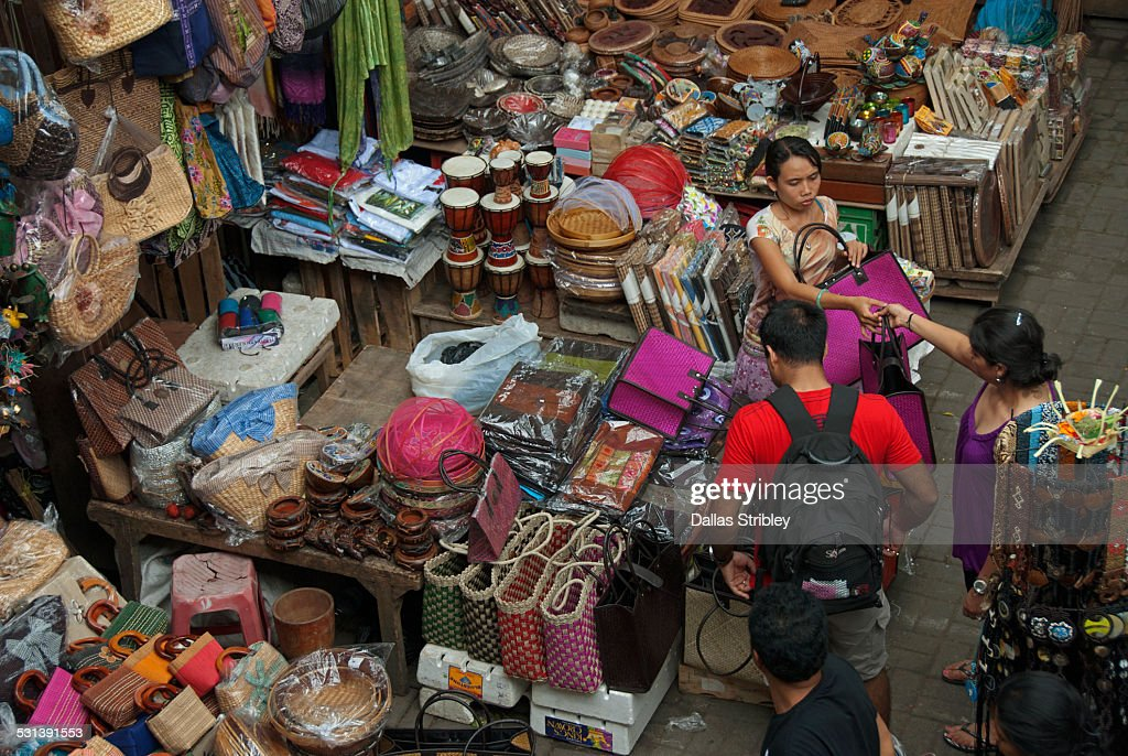 Handicrafts For Sale At The Market In Ubud Bali Stock Photo Getty