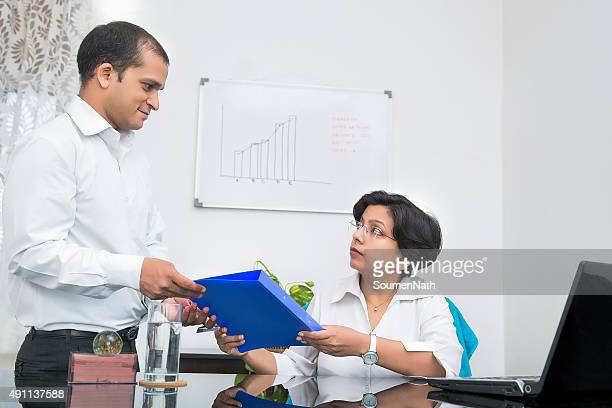 Handing over a file