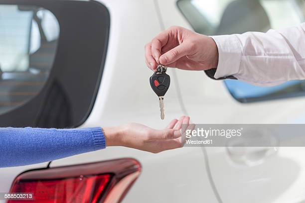 Handing over of car key