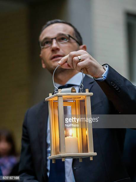 Handing over of Peace light to the Minister of Justice Heiko Maas by the ring German girls and boys scout federations e V from Betlehem under the...