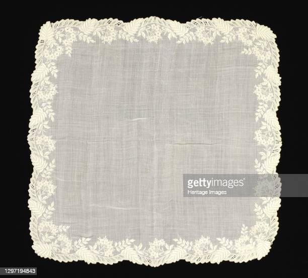 Handkerchief, American, 1860-70. Artist Unknown.