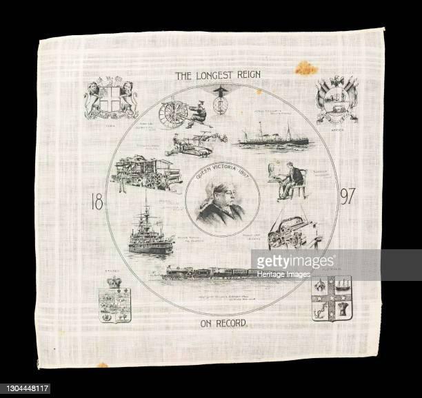Handkerchief, British, 1897. Artist Unknown.