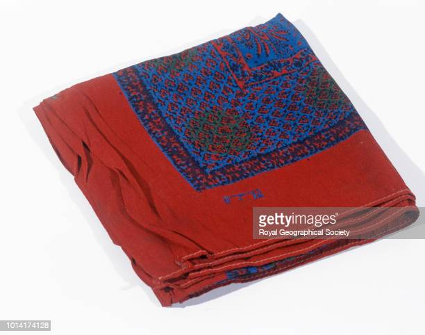 Handkerchief with monogram GLM George Mallory and Andrew Irvine famously disappeared en route to the summit of Mount Everest on 8th June 1924...