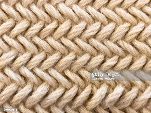 hand-knit herringbone pattern - cashmere stock pictures, royalty-free photos & images