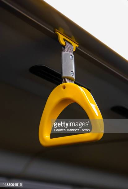 handle on transit vehicle. - handle stock pictures, royalty-free photos & images