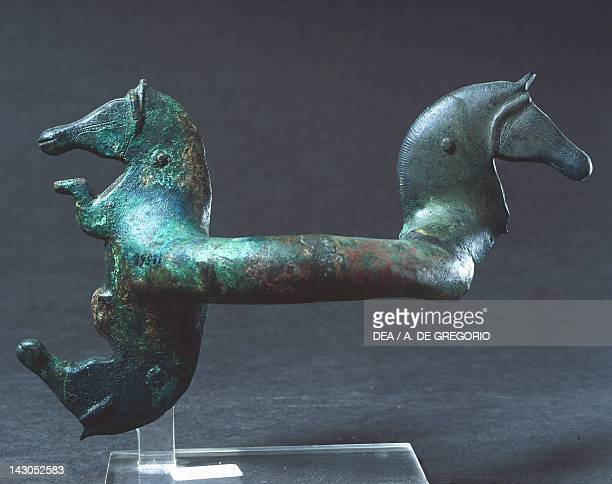 Handle with protomes in the shape of a horse Italy Piceno Civilization 6th Century BC Ancona Museo Archeologico Nazionale Delle Marche