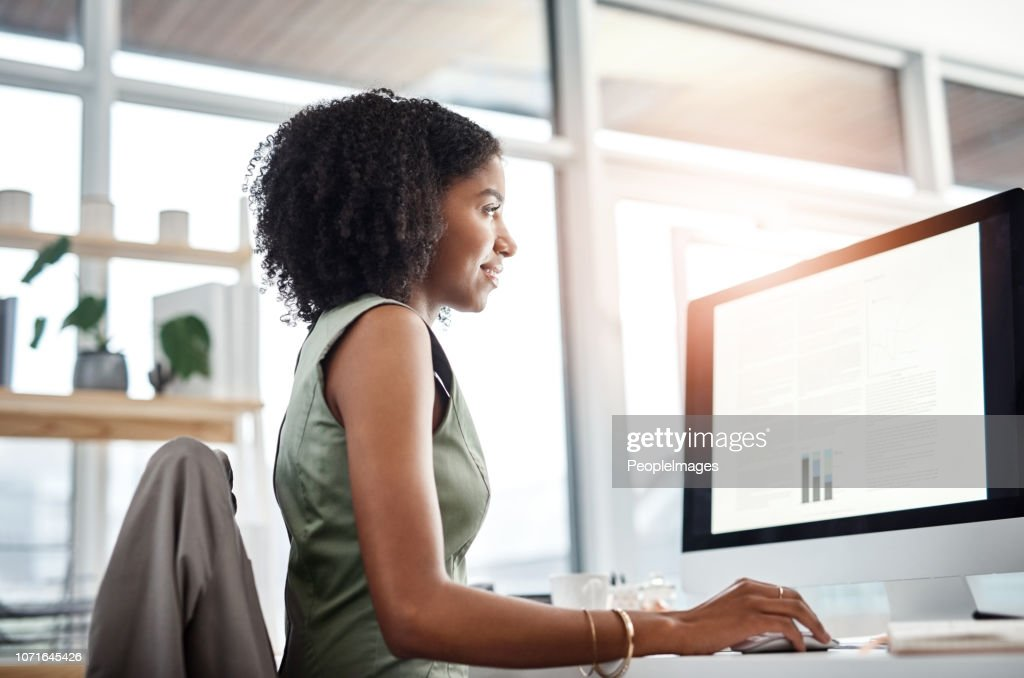 Handling her workload with ease : Stock Photo